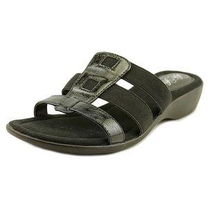 Life Stride Talk Slide Sandals Black size 9